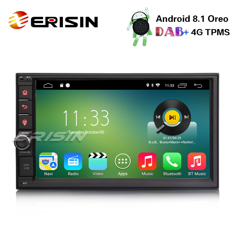 Android radio del coche con Bluetooth Navi doble 2din navegación mp3 USB 3g SD