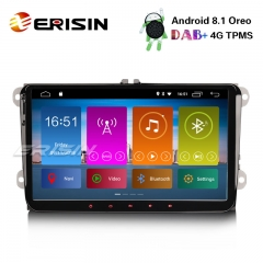 "Erisin ES2891V 9"" DAB+ Android 8.1 GPS 4G Autoradio for VW Passat Polo Golf 5/6 Tiguan Touran T5 4G"