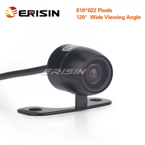 Erisin ES581 Mini HD Dynamic 170° Color CCD Reverse Rear View Camera PAL Track Trajectory