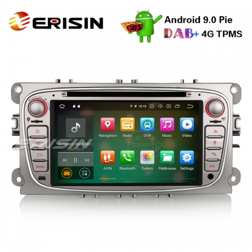 "Erisin ES7909FS 7"" Android 9.0 Autoradio GPS DAB + DVD CD Canbus SD para Ford Focus C / S-Max Mondeo Galaxy"