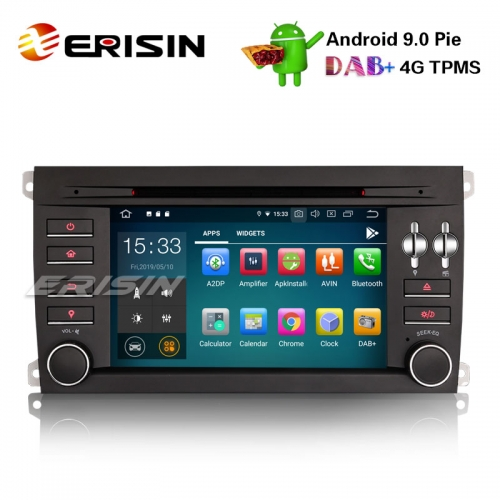 "Erisin ES7997S 7"" 8-Core Android 9.0 Car Stereo GPS DAB + Wifi 4G BT CD DVR OBD USB Porsche Cayenne"