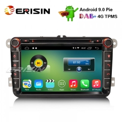 "Erisin ES3515V 8"" DAB+4G Android 9.0 Car Stereo GPS SWC For VW Golf V Passat Tiguan Polo Jetta Eos"