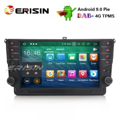 "Erisin ES7911G-64 9"" Car Stereo GPS Android 9.0 TPMS BT DVR DAB + DTV-IN SatNav para VW Golf VII / 7"