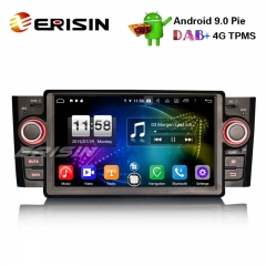 "Erisin ES7723L 7"" DAB + Android 9.0 Car Stereo GPS WiFi DTV 4G Bluetooth OBD para Fiat Punto Linea"