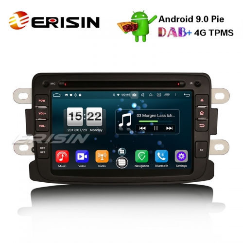 "Erisin ES7783D 7"" Android 9.0 Renault Dacia Duster Logan Dokker Lodgy DAB + 4G Wifi Autoradio GPS System"