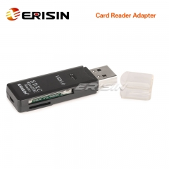 Erisin IP079 USB 3.0 Memory Card Reader High Speed 2 in 1 Micro SD/SDHC/SDXC TF up to 128GB