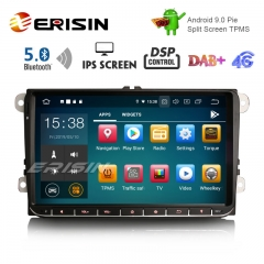 "Erisin ES8028V 9 ""DAB + Android 9.0 Coche GPS IPS DSP BT5.0 para VW Passat Golf 5/6 Polo Tiguan Eos Caddy Seat"
