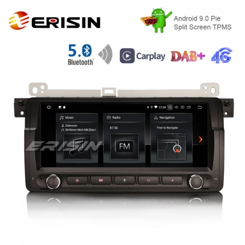 "Erisin ES1889B 8.8 ""Android 9.0 Pie OS Coche TPMS 4G GPS DAB + BT5.0 Carplay para E46"
