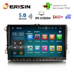 "Erisin ES8028V 9"" DAB + Android 9.0 Coche GPS IPS BT5.0 para VW Passat Golf 5/6 Polo Tiguan Eos Caddy Seat"