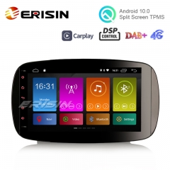 "Erisin ES3099S 9"" DAB + Android 10.0 Radio estéreo para automóvil GPS Wifi OBD Sat Nav DSP CarPlay para Mercedes-Benz Smart"