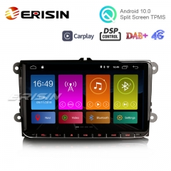 "Erisin ES3101V 9"" DAB+ DSP Android 10.0 Stereo GPS SatNav CarPlay para VW Passat CC Golf Touran Polo Seat"