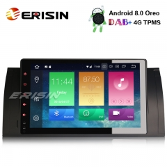 "Erisin ES7493B 9"" Android 8.0 Car Radio DAB+ GPS 4G TPMS for BMW E39 E53"