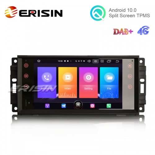 "Erisin ES2776J 7"" Android 10.0 Car Stereo GPS DAB 4G Wifi for Jeep Compass Chrysler Dodge"
