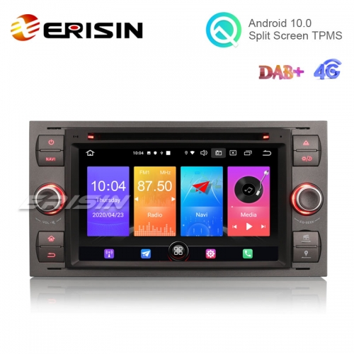 "Erisin ES2766F 7"" Android 10.0 Auto Radio DVD WiFi 4G CarPlay+ DAB+ GPS for Ford Fusion Focus"