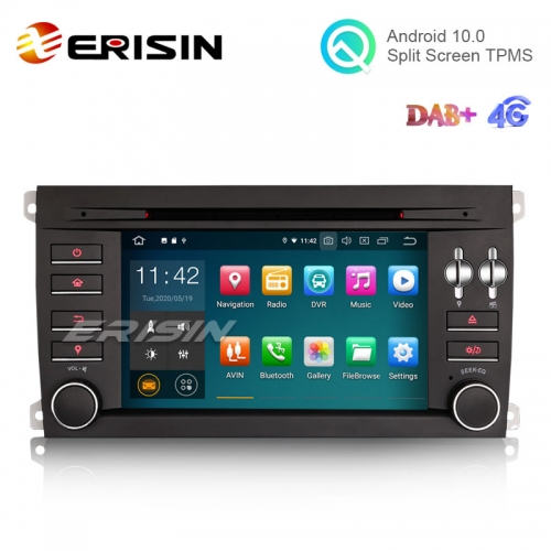 "Erisin ES5197C 7"" Quad-Core Android 10.0 Car DVD GPS Radio WiFi BT TPMS DAB+ 4G for Porsche Cayenne"