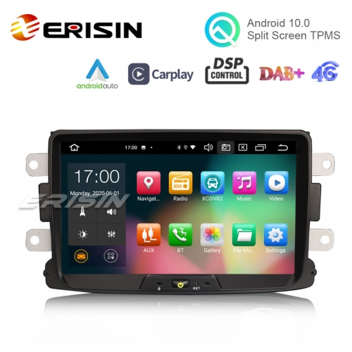 "Erisin ES8129D 8"" PX5 64GB Android 10.0 Car Radio CarPlay & Auto GPS 4G DAB+ DSP for Renault Dacia Duster Logan Sandero Dokker"