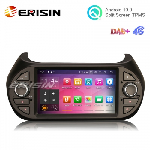 "Erisin ES5125F 7"" Android 10.0 Car Stereo for Fiat Fiorino Citroen Nemo Peugeot Bipper Multimedia GPS DAB+"