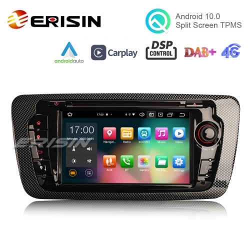 "Erisin ES8122S 7"" PX5 Android 10.0 Car DVD for SEAT IBIZA DSP CarPlay & Auto GPS TPMS DAB+ 4G Radio"