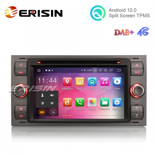 "Erisin ES5166F 7"" Android 10.0 Car Multimedia with GPS Radio DVD for FORD Fiesta kuga Fusion Mondeo"