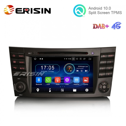"Erisin ES6980E 7"" Android 10.0 Car Stereo DVD for Benz CLS Class W219 E-Class W211 W463 4G WiFi RDS Radio GPS Sat"
