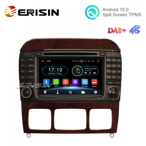 "Erisin ES5997S 7"" 16G Android 10.0 Car DVD GPS Radio WiFi BT TPMS DVR for Mercedes-Benz S-Class W220 CL-Class W215"