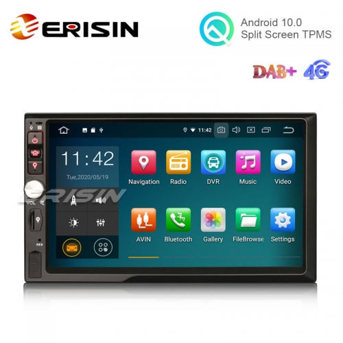 Erisin ES5141U 2 Din Android 10.0 Car Stereo DVD PX30 DAB+ CarPlay+ TPMS GPS SatNav