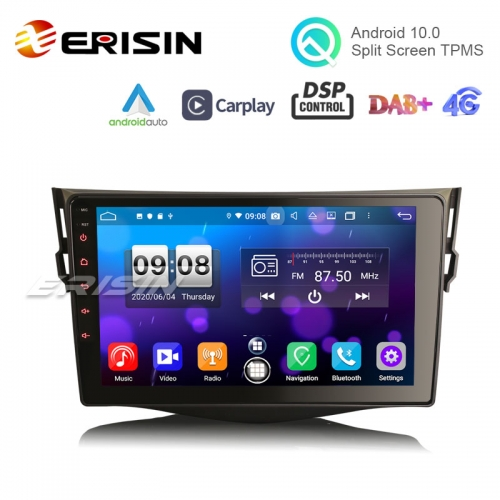 "Erisin ​​​​​​​ES8734R 9"" Android 10.0 Car Multimedia GPS Stero CarPlay & Auto GPS DSP TPMS DVR for TOYOTA RAV4 2006-2012"