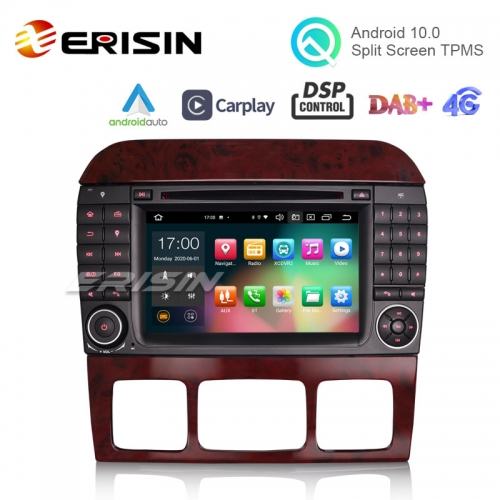 "Erisin ES8182S 7"" Octa-Core Android 10.0 Car DVD for Benz S-Class W220 iPhone Auto CarPlay GPS DSP DAB"