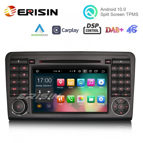 "Erisin ES8183L 7"" Android 10.0 Car DVD Player GPS for Benz ML-Class W164 GL-Class X164 CarPlay DSP 64G DAB"