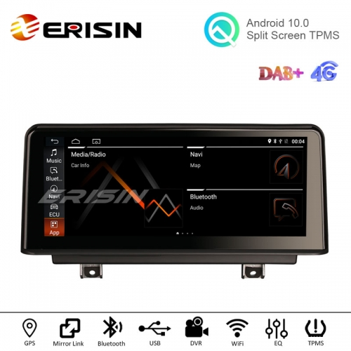 "Erisin ES2630B 10.25"" Android 10.0 Car Stereo for BMW NBT F30 F31 F34 F36 M3 F80 GPS DAB+ Carplay+ TPSM  32G"